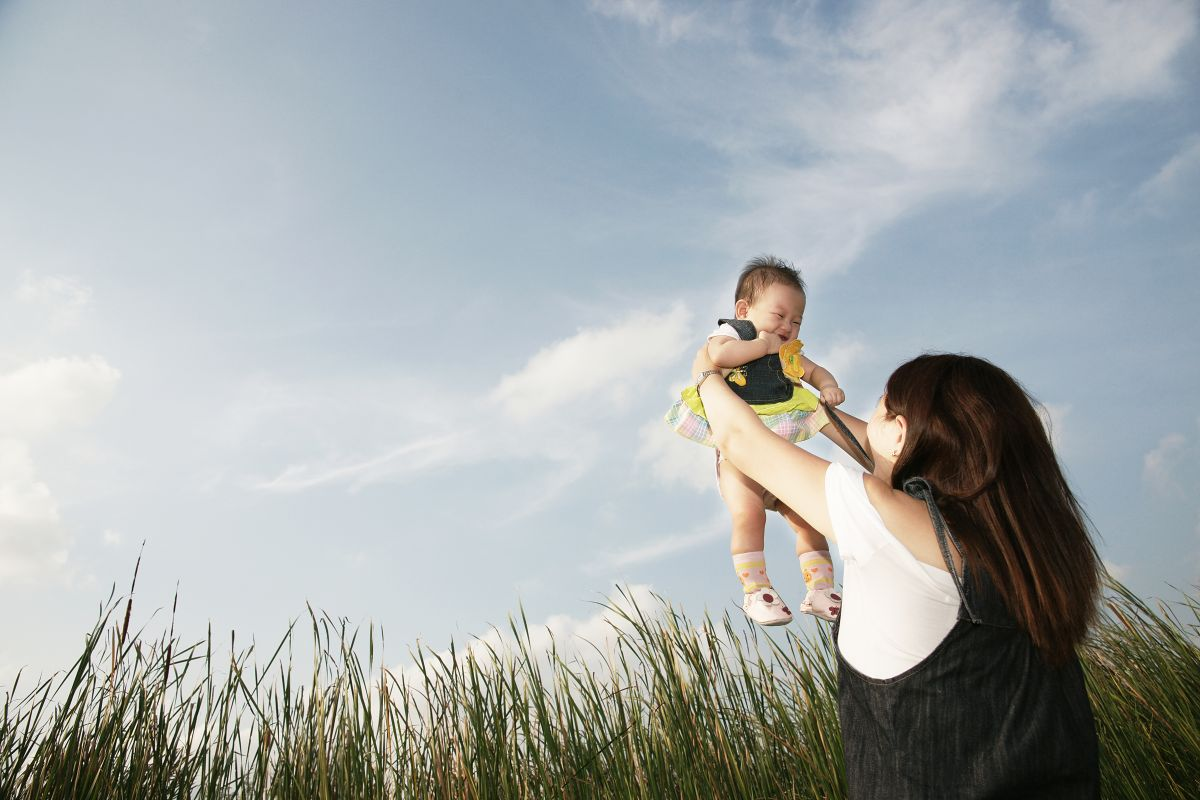baby photography outdoor